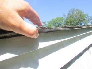 Single layer of roofing