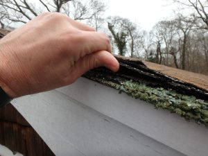 Double layer of roofing (plus moss, compliments of mother nature)